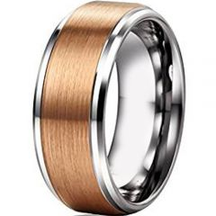 (Wholesale)Tungsten Carbide Step Edges Ring - TG4742