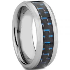 (Wholesale)Tungsten Carbide Ring With Carbon Fiber - TG4314