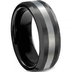 (Wholesale)Tungsten Carbide Beveled Edges Ring - TG624