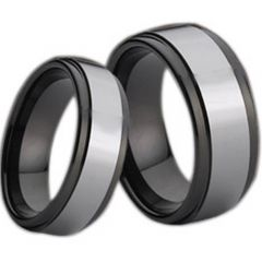(Wholesale)Tungsten Carbide Step Edges Ring - TG723
