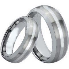 (Wholesale)Tungsten Carbide Center Line Ring - TG871