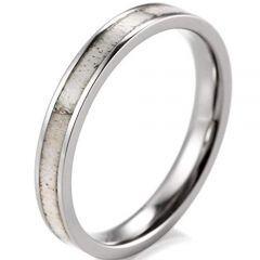 (Wholesale)Tungsten Carbide Deer Antler Ring - 3611