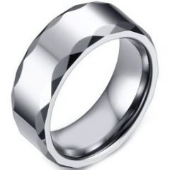 (Wholesale)Tungsten Carbide Faceted Ring - TG4682