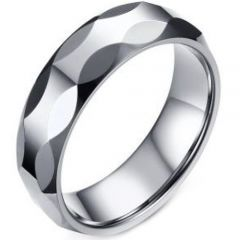 (Wholesale)Tungsten Carbide Faceted Ring - TG3460A