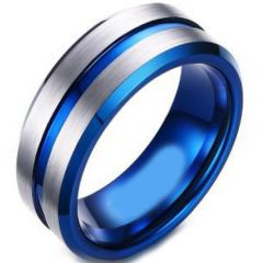(Wholesale)Tungsten Carbide Center Groove Ring - TG4685