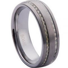 (Wholesale)Tungsten Carbide Ring With Carbon Fiber-TG1099