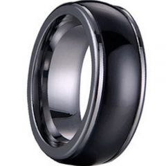 (Wholesale)Tungsten Carbide Dome Step Edges Ring - TG1139