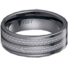 (Wholesale)Tungsten Carbide Ring With Carbon Fiber-TG1141