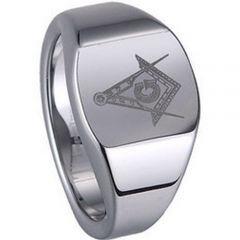 (Wholesale)Tungsten Carbide Masonic Ring - TG1231