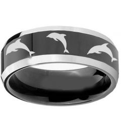 (Wholesale)Tungsten Carbide Dolphin Ring - TG1234