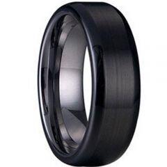 (Wholesale)Tungsten Carbide Beveled Edges Ring - TG1238