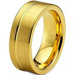 (Wholesale)Tungsten Carbide Offset Groove Ring - TG1246AA