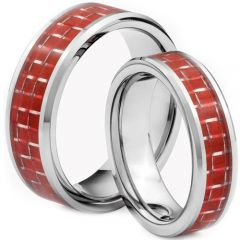 (Wholesale)Tungsten Carbide Ring With Carbon Fiber - TG1380