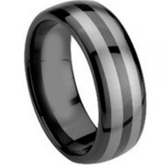 (Wholesale)Tungsten Carbide Dome Ring - TG1427