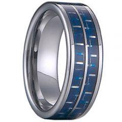 (Wholesale)Tungsten Carbide Carbon Fiber Ring-TG1477