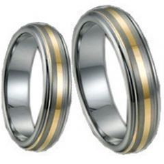 (Wholesale)Tungsten Carbide Center Line Ring - TG1525
