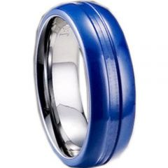 (Wholesale)Tungsten Carbide Center Groove Ring - TG1622