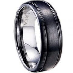 (Wholesale)Tungsten Carbide Double Groove Ring - TG1625