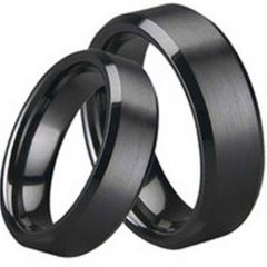 (Wholesale)Black Tungsten Carbide Ring - TG1645