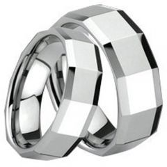(Wholesale)Tungsten Carbide Faceted Ring - TG1672