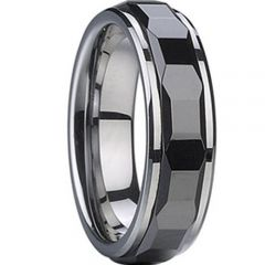 (Wholesale)Tungsten Carbide Faceted Ring - TG1679A