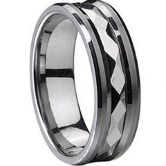 (Wholesale)Tungsten Carbide Faceted Ring - TG1849