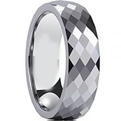 (Wholesale)Tungsten Carbide Faceted Ring - TG1892AA
