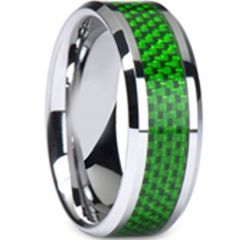 (Wholesale)Tungsten Carbide Ring With Carbon Fiber-TG1910A