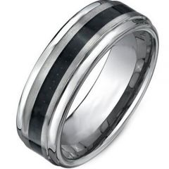 (Wholesale)Tungsten Carbide Double Groove Ring - TG1935