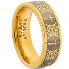 (Wholesale)Tungsten Carbide Cross Pipe Cut Ring - TG194