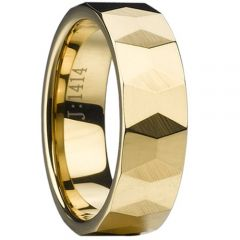 (Wholesale)Tungsten Carbide Faceted Ring - TG1963A
