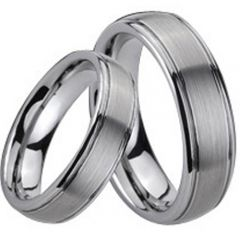 (Wholesale)Tungsten Carbide Step Edges Ring - TG197