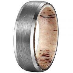 (Wholesale)Tungsten Carbide Deer Antler Ring - TG2034