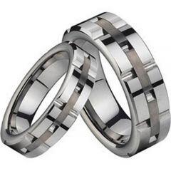 (Wholesale)Tungsten Carbide Tire Tread Ring - TG2195