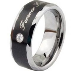 (Wholesale)Tungsten Carbide Ring With Cubic Zirconia - TG2220