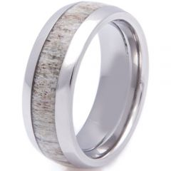 (Wholesale)Tungsten Carbide Deer Antler Ring - TG2257A