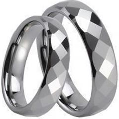 (Wholesale)Tungsten Carbide Faceted Ring - TG234