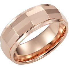 (Wholesale)Tungsten Carbide Faceted Ring - TG2357