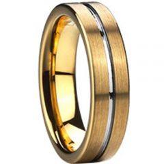 (Wholesale)Tungsten Carbide Center Groove Ring - TG2393