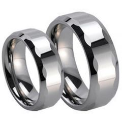 (Wholesale)Tungsten Carbide Faceted Ring - TG249