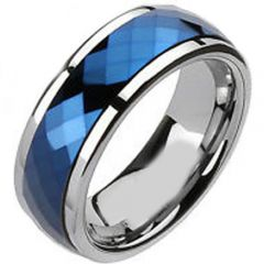 (Wholesale)Tungsten Carbide Faceted Ring - TG2517