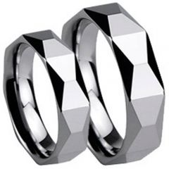 (Wholesale)Tungsten Carbide Faceted Ring - TG253