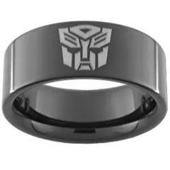 (Wholesale)Black Tungsten Carbide Transformer Ring - TG2545