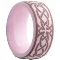 (Wholesale)Pink Ceramic Ring - TG2559AA