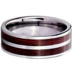 (Wholesale)Tungsten Carbide Wood Ring - TG2602