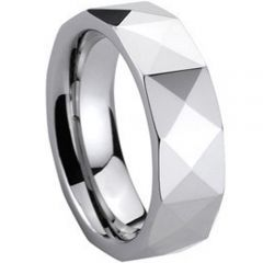 (Wholesale)Tungsten Carbide Faceted Ring - TG260
