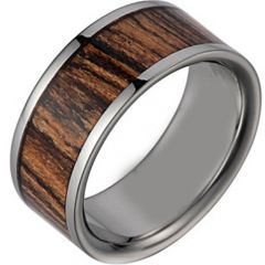 (Wholesale)Tungsten Carbide Wood Ring - TG2611
