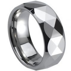 (Wholesale)Tungsten Carbide Faceted Ring - TG264
