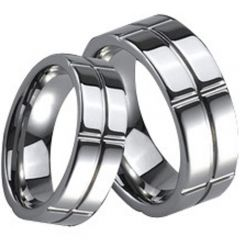 (Wholesale)Tungsten Carbide Vertical & Horizontal Groove Ring-26