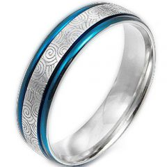 (Wholesale)Tungsten Carbide Celtic Step Edges Ring - TG2722AA
